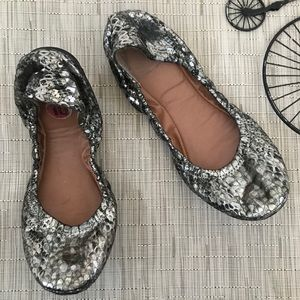 Lucky Brand Snakeskin Silver Emmie Ballet Flat